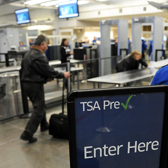 """Jan. 24, 2012 - Minneapolis, Mn, U.S. - The Transportation Security Administration (TSA) introduced the new TSA Preaœ""""a""""¢ lane at Minneapolis-St. Paul International Airport on Tuesday January 24, 2011 .   The new screening lane is located at  check po"""