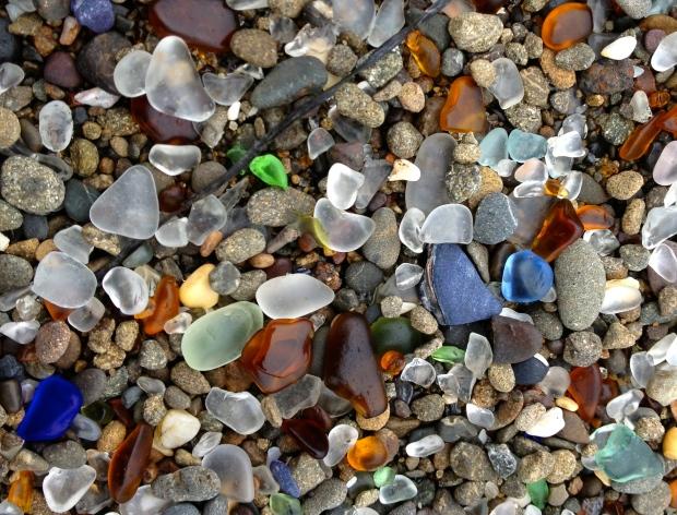 Blue-Sea-Glass-on-the-Beach