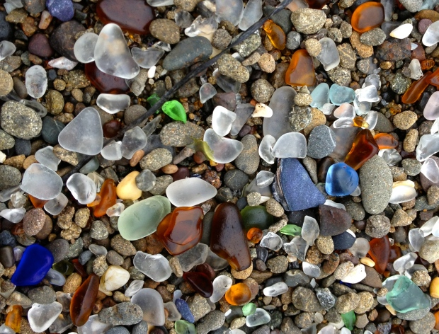 Blue-Sea-Glass-on-the-Beach