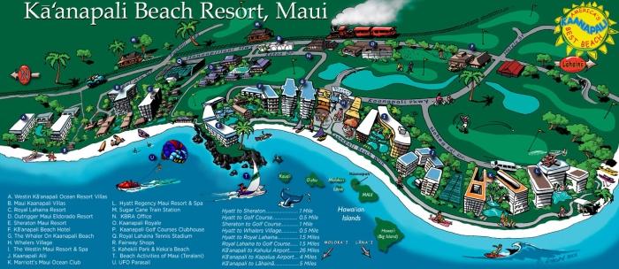 kaanapali-beach-resort-map