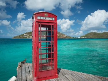 Telephone Booth at Marina Cay in the British Virgin Islands